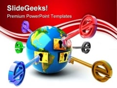 E Key Globe PowerPoint Templates And PowerPoint Backgrounds 0211