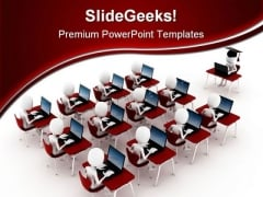 E Learning Computer PowerPoint Themes And PowerPoint Slides 0311