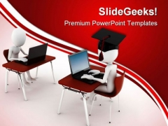 E Learning With People Computer PowerPoint Themes And PowerPoint Slides 0311
