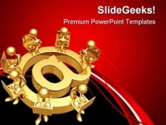 E Mail Group Business PowerPoint Themes And PowerPoint Slides 0511