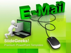 E Mail With Computer Mouse Templates And PowerPoint Themes 1012