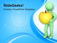Each Apple Contain Multiple Vitamin PowerPoint Templates Ppt Backgrounds For Slides 0813