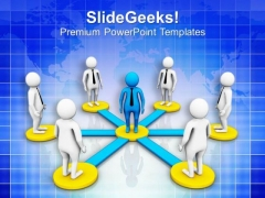 Each Member Of Team Should Connected PowerPoint Templates Ppt Backgrounds For Slides 0713