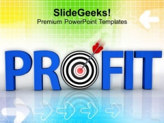 Earn Profit For Business PowerPoint Templates Ppt Backgrounds For Slides 0413