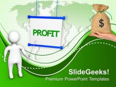 Earn Profit With Hardwork PowerPoint Templates Ppt Backgrounds For Slides 0513