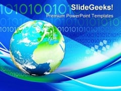 Earth And Binary Globe PowerPoint Templates And PowerPoint Backgrounds 0211
