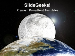 Earth And Moon Globe PowerPoint Templates And PowerPoint Backgrounds 0611