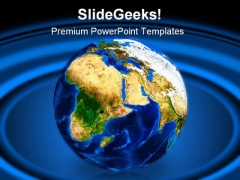 Earth Continents Globe PowerPoint Template 0810