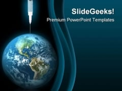 Earth Drug Globe PowerPoint Template 0610