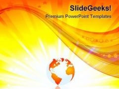 Earth Globe Illustration Global PowerPoint Themes And PowerPoint Slides 0211