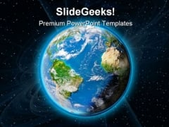 Earth In Space Geographical PowerPoint Themes And PowerPoint Slides 0211