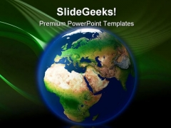Earth With Europe Africa Globe PowerPoint Themes And PowerPoint Slides 0211