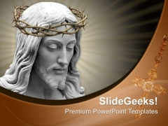Easter Crown Of Thorns Cross Jesus PowerPoint Templates Ppt Backgrounds For Slides 0414