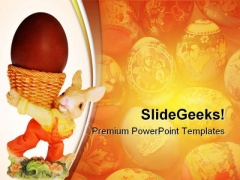 Easter Egg Festival PowerPoint Themes And PowerPoint Slides 0611