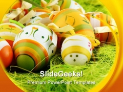 Easter Eggs Festival Nature PowerPoint Templates And PowerPoint Backgrounds 0211