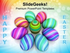 Easter Eggs In Circle Christian Festival PowerPoint Templates Ppt Backgrounds For Slides 0313