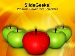Eat Apple And Be Healthy PowerPoint Templates Ppt Backgrounds For Slides 0513