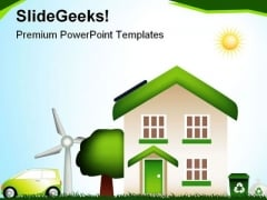 Eco House Environment PowerPoint Templates And PowerPoint Backgrounds 0611