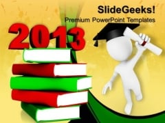 Education 2013 Books New Year Future PowerPoint Templates And PowerPoint Themes 0712