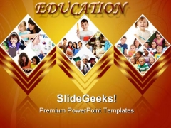 Education Collage Children PowerPoint Templates And PowerPoint Backgrounds 0211