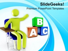 Education Is Learning PowerPoint Templates Ppt Backgrounds For Slides 0513