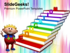 Education On Books Future PowerPoint Templates And PowerPoint Themes 0912