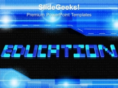 Education Word With Lego Blocks PowerPoint Templates And PowerPoint Themes 1012