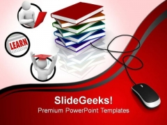 Educational Books PowerPoint Templates And PowerPoint Themes 0812