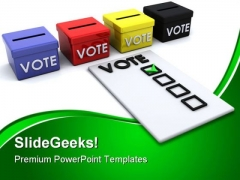 Election Ballot Box Government PowerPoint Themes And PowerPoint Slides 0311