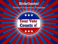 Election Buttons Americana PowerPoint Templates And PowerPoint Themes 0812