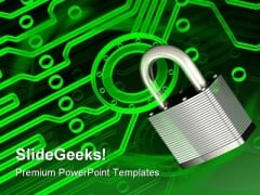 Electronic Lock Security PowerPoint Themes And PowerPoint Slides 0611