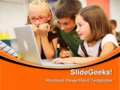Elementary School Students Education PowerPoint Templates And PowerPoint Backgrounds 0511