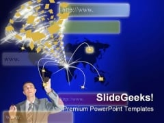 Email Internet PowerPoint Backgrounds And Templates 1210