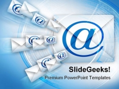 Email Internet PowerPoint Templates And PowerPoint Backgrounds 0711