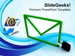 Email Locked Confidential Information Security PowerPoint Templates Ppt Backgrounds For Slides 0313