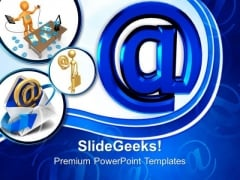 Email Sign Internet PowerPoint Templates And PowerPoint Themes 0712