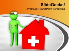 Emergency Shelter Home PowerPoint Templates Ppt Backgrounds For Slides 0813