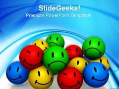Emotion Icons Shapes PowerPoint Templates And PowerPoint Themes 0812