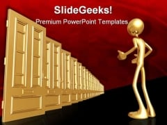 Endless Doors Business PowerPoint Themes And PowerPoint Slides 0811