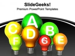 Energy Efficiency Concept Go Green PowerPoint Templates And PowerPoint Themes 0912