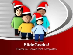 Enjoy Christmas With Family PowerPoint Templates Ppt Backgrounds For Slides 0613