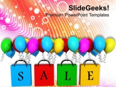 Enjoy Shopping In Sale Season PowerPoint Templates Ppt Backgrounds For Slides 0613