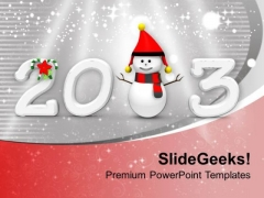 Enjoy Snow This New Year PowerPoint Templates Ppt Backgrounds For Slides 0513