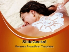 Enjoy Sun Beach PowerPoint Templates And PowerPoint Backgrounds 0411