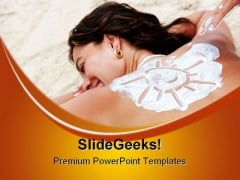 Enjoy Sun Beach PowerPoint Themes And PowerPoint Slides 0411
