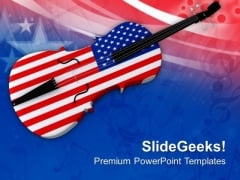 Enjoy The Music This Independence Day PowerPoint Templates Ppt Backgrounds For Slides 0713