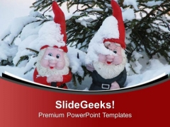 Enjoy The Season Of Snow With Christmas PowerPoint Templates Ppt Backgrounds For Slides 0513