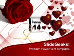Enjoy Valentine Day With Loved Ones PowerPoint Templates Ppt Backgrounds For Slides 0613