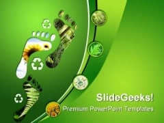Environmental Footprints Nature PowerPoint Themes And PowerPoint Slides 0211