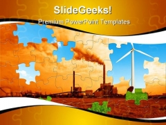 Environmental Puzzle Nature PowerPoint Themes And PowerPoint Slides 0311